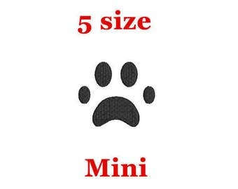 Mini Paw Print Embroidery Design. Machine Embroidery Design. Paw Embroidery Design. Animal applique design. Paw Mini Embroidery. Small Paw.