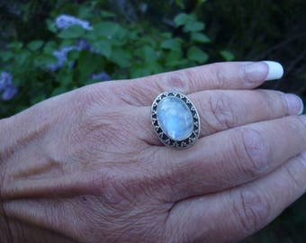Sterling Silver And Moonstone Ring