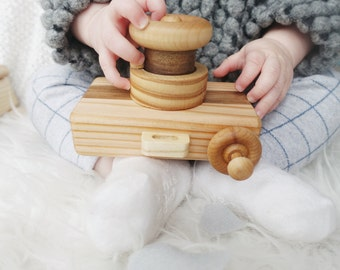 Detachable Lens Wooden Toy Camera