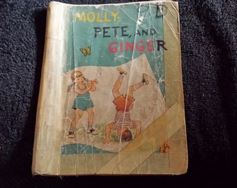 1955 Molly, Pete, & Ginger public school reader