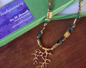 Golden Branch 17-inch Necklace