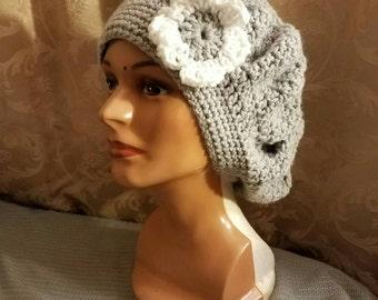 Crocheted beret hat Custom made