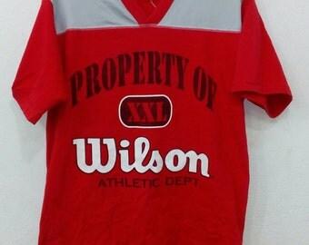 Rare!! Vintage Wilson big logo hip hop swag L size