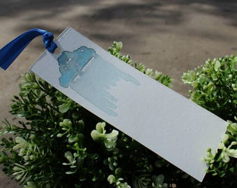 Watercolor Bookmark - Rain Clound