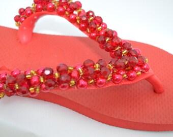 Christmas Shoes // Christmas Flip Flops // Christmas Sandals // Havaianas Christmas Flip Flops
