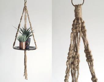 Rustic Natural Jute Plant Hanger