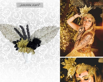 "Headdress ""Golden Leafs ' head dress autumn"