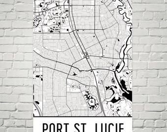 Port St. Lucie Map, Port St. Lucie Art, Port St. Lucie Print, Port St. Lucie FL Poster, Port St. Lucie Wall Art, Port St. Lucie Poster, Gift