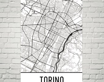 Torino Map, Torino Art, Torino Print, Torino Italy Art Poster, Torino Wall Art, Map of Torino, Torino Gift, Torino Decor, Torino Map Art