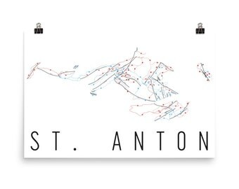 St. Anton Ski Map Art, St. Anton Austria, St. Anton Trail Map, St. Anton Resort Print, St. Anton Poster, St. Anton Mountain, St. Anton Art