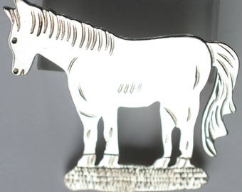 Horse Pin brooch Sterling Silver Western Equestrian Jewelry Horse Jewelry Gift for Her