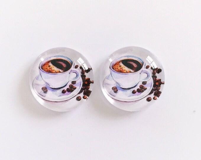 The 'Coffee Bean' Glass Earring Studs