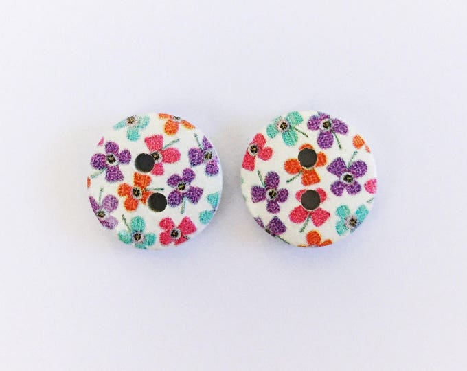 The 'Peta' Button Earring Studs