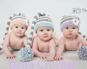 Elf Hat With Pom-Pom And Leg Warmers Set,  White, Grey And Baby Lilac, Sizes Newborn _ 24 Mon, Made By Order