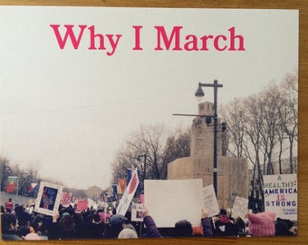 Why I March postcards, times up, me too, womens rights, feminist postcards, womens march, feminist, resist trump, feminism, feminist gift
