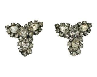Kramer 1960s Vintage Rhinestone Earrings