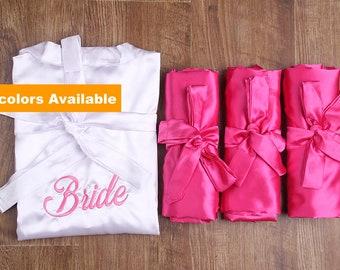 bridesmaid robes set of 7, robe for bridesmaid, wedding robe, monogrammed robe, bridesmaid party robe, bridal party robe