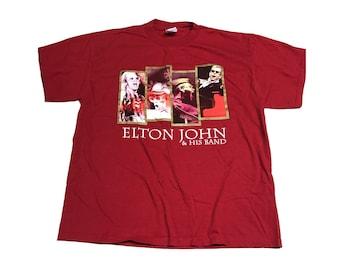 Elton John & His Band Shirt Size (Large)