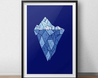 Ice blue Iceberg Archival Print