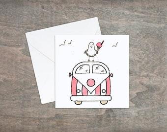 Campervan Card, Camper Card All Purpose Card, Generic Card, Birthday Card, Thank You Card, Blank Card, Personalised Card, Card, Campervan