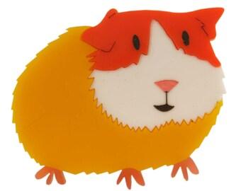 Guinea pig brooch