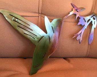 Hummingbird - Sweet Nectar - metal wall art - home decor - wall decor - decorations - animals - birds - art
