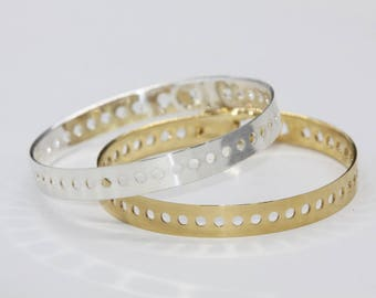 ring gold or silver - plated pea peas bracelet