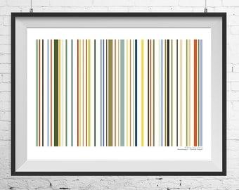 Barcode print, Renaissance inspired barcode print, barcode poster, custom barcode print, custom barcode poster, barcode wall art, wall art