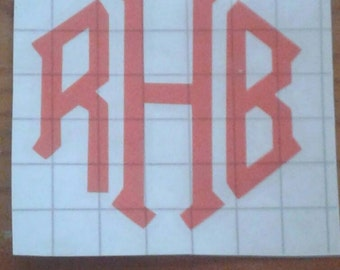 DIY decals, monogram decals, vinyl decals, custom decals