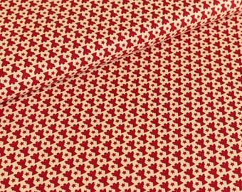 Cotton fabric joyful Christmas Angels red / cream (9,50 EUR / meter)