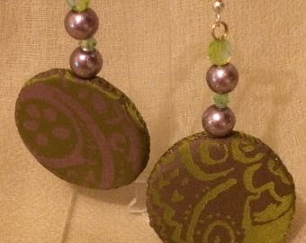 Silk Embroidered earrings