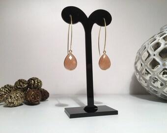 Moonstone gemstone earrings