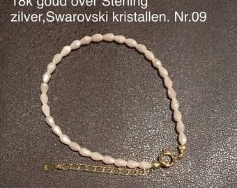 Beautiful SilsJewels bracelets severals models including gemstones and Swarovski crystals. Sterling Silver and 18 k gold over sterling silver.