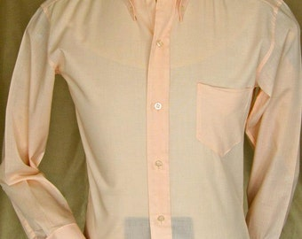 Men's 60's Oxford Ivy polycotton unworn and packeted shirt
