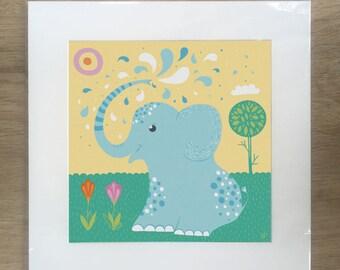 Splashing Around. A child's nursery print