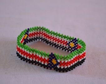 South Sudan Flag Bracelet | Maasai beaded bracelets | Flag of South Sudan | South Sudan flag wrist band.