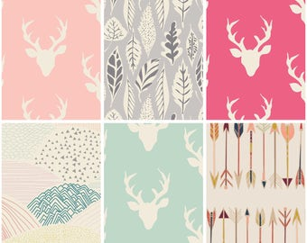 Woodland Baby Girl Fabric Bundle- Art Gallery -Bedding ,Kids Room Decor