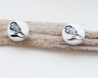 Driftwood hooks, with bird design