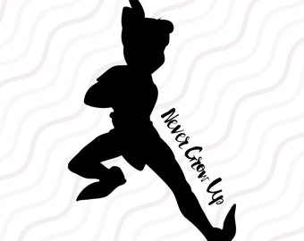 Peter Pan SVG, Peter Pan DXF, Peter Pan Silhouette SVG Cut table Design,svg,dxf,png Use With Silhouette Studio & Cricut_Instant Download