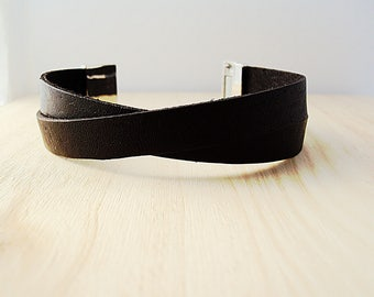 Portuguese Double Leather Bracelet, Double Crossed Leather Bracelet, Portuguese Leather, Eco-friendly
