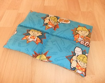 800g Bob The Builder Blue Weighted Lap Pad. Toddler/Small Child Square Foldable Autism ADHD SPD sensory, for concentration or anxiety