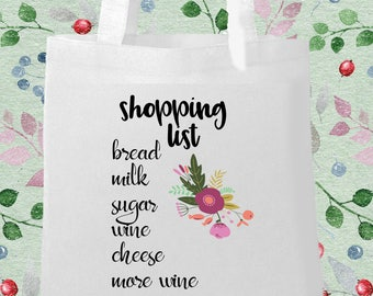 Shopping List Printed Eco Bag