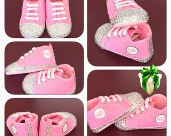 Crystal Baby Shoes, Crystal Shoes, Baby Shoes, Rhinestone Baby Shoes, Rhinestone Shoes