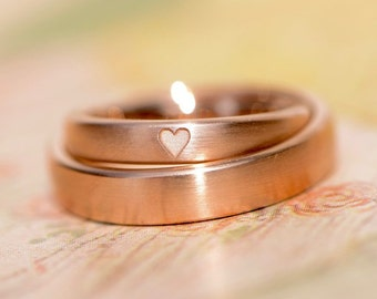 Is my heart wedding rings * your * rose gold heart simply narrow matte