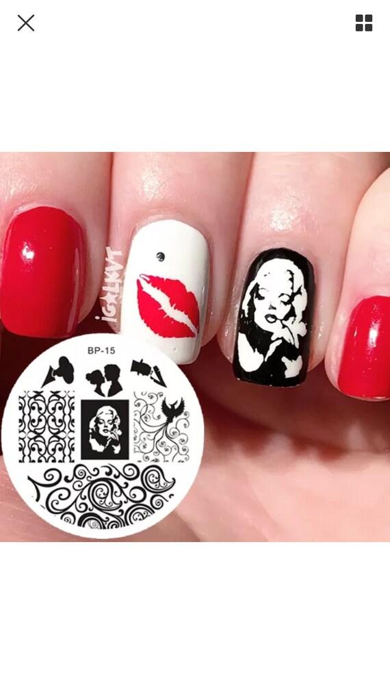 MARILYN MONROE Nail Art Stamping Plate - DIY Nails! from ...