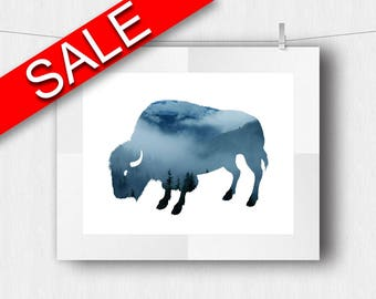 Wall Art Buffalo Digital Print Buffalo Poster Art Buffalo Wall Art Print Buffalo Wildlife Art Buffalo Wildlife Print Buffalo Wall Decor