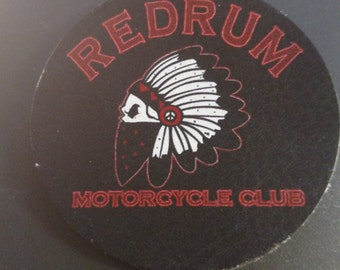 Redrum Leather adhesive back 3inch patchs