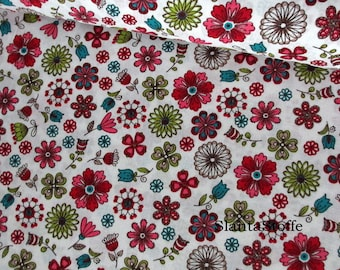 Fabric flowers, cotton 7613