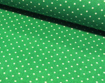 Fabric points 1, 5mm Green 7399 fabric polka dots