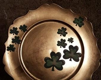 Irish Shamrock Charger Plate Decoration